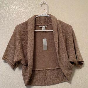 WD•NY Knitted Tan Cardigan